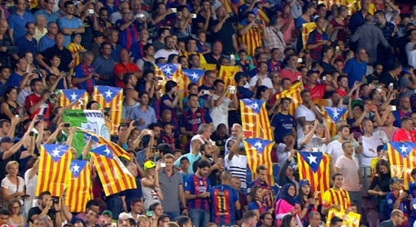 """Clam a favor de la independència"" al Camp Nou"