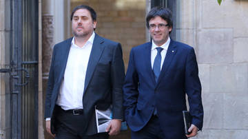 Puigdemont hace Junqueras responsable legal del referéndum