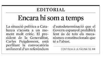 "Iceta troba ""imprescindible"" l'editorial de La Vanguardia"