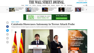 "The Wall Street Journal dice que Catalunya ""puede gobernar independientemente de Madrid"""