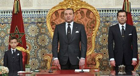 Consellers homenajean a Mohammed VI
