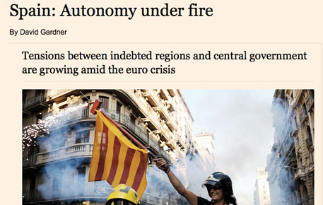 'Financial Times' creu que la tensió a l'Estat aviva l'independentisme