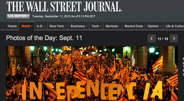 "'The Wall Street Journal': ""la bretxa entre Catalunya i Espanya s'incrementarà"""