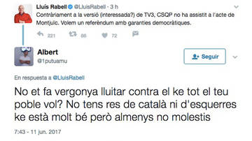 Linchamiento soberanista a Rabell