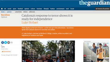 "Un articulista de The Guardian encuentra Catalunya ""preparada para la independencia"""