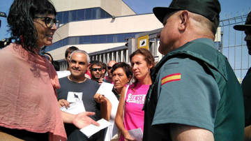 La CUP intenta convencer a la Guardia Civil