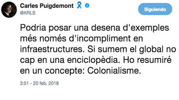 Puigdemont s'aferra a twitter