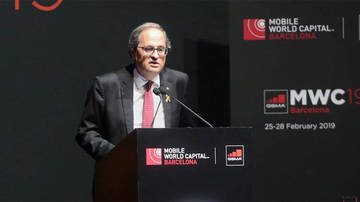 Discurs 'light' de Torra al Mobile