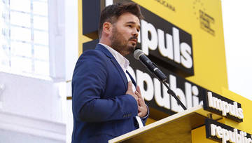 "Rufián titlla el Rei de ""miserable"""