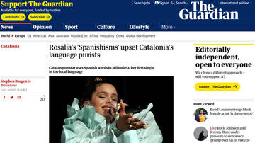El independentismo pierde el apoyo del The Guardian