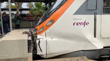 Accident d'un tren a Mataró