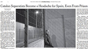 The New York Times fa de Cuixart un màrtir